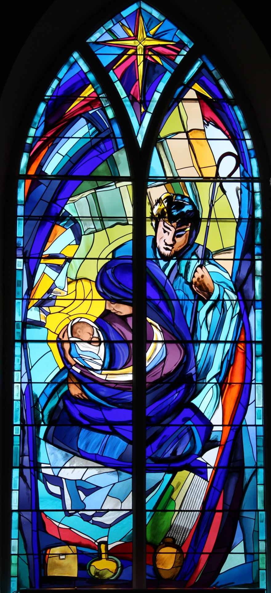 1 E. Butler-Cole Aiken, Nativity Window (Longforgan), 2002, 440 x 200 cm, Credit EBCA
